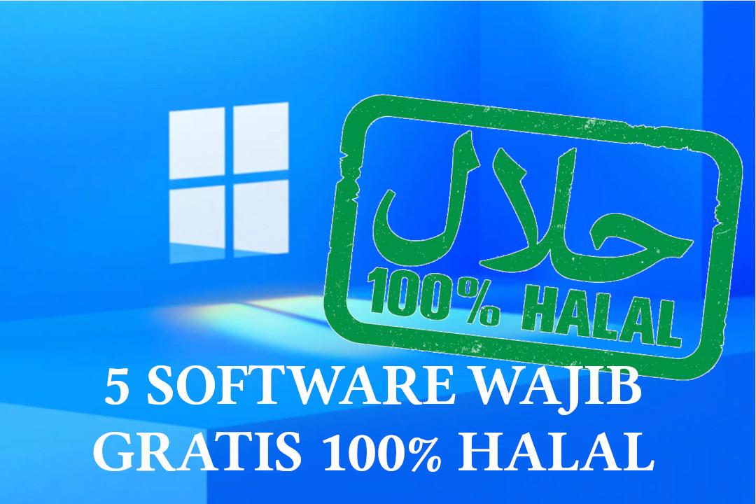 5 software wajib gartis halal 100%